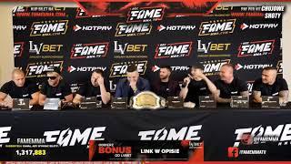 BOJKA NA KONFERENCJI FAME MMA! - DAWID OZDOBA VS ADRIAN POLAK! DYM!!