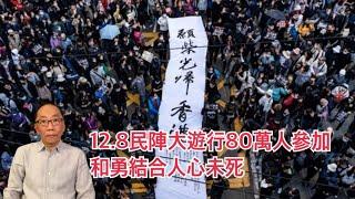 20191208 12.8民陣大遊行80萬人參加 和勇結合人心未死
