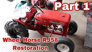 1958 Wheel Horse RJ58 Restoration (Part 1)