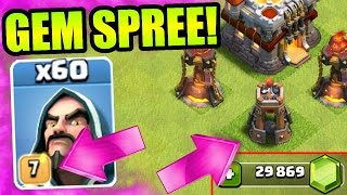 Clash Of Clans  GEMMING THE NEW UPDATE  BUYING NEW DEFENSE  NEW TROOP LEVELS + MORE