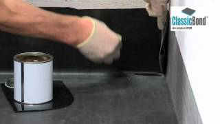 How to install an internal corner to EPDM roof (video)
