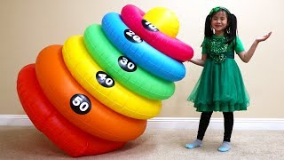 Jannie Pretend Play Magic Stacking Rings Transform Colors