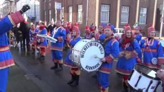 preview picture of video 'Wilhelminakorps Kerkrade rondgang twee weken voor carnaval 2014'