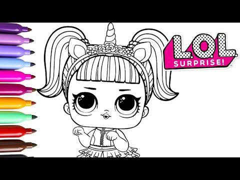 Dibujos Para Colorear De Lol Surprise De Unicornio On Log Wall