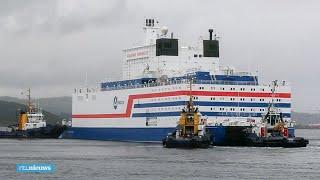 Russen sturen omstreden drijvende kerncentrale de zee op - RTL NIEUWS
