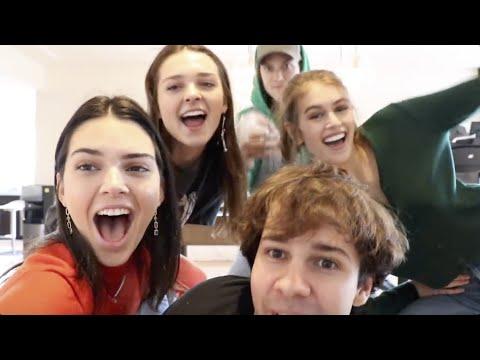 Best Celebrity Appearances in David Dobrik Vlogs (Kendall Jenner, Miranda Cosgrove) (видео)