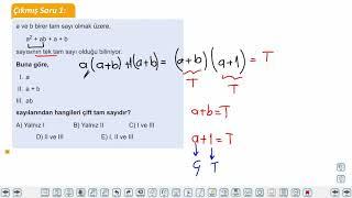 Eğitim Vadisi TYT Matematik 3.Föy Tek ve Çift Tam Sayılar Konu Anlatım Videoları