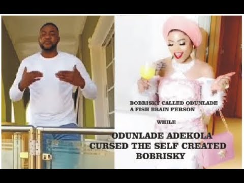 "ODUNLADE CURSED THE SELF CREATED  LADY ""BOBRISKY"" WHO CALLED HIM FISH BRAIN"
