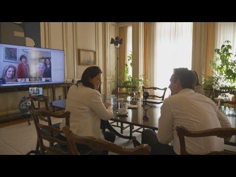 Παρουσίαση ψηφιακών εργαλείων για την εξ αποστάσεως διδασκαλία στον πρωθυπουργό