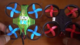 Tiny WHOOP Micro drone fpv review, frame x-Racer, Board eachine e011, motor 716, camera 600tvl