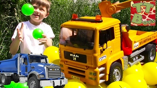 LEARN COLORS WITH CARS TOYS BRUDER | УЧИМ ЦВЕТА ВМЕСТЕ С МАШИНКАМИ БРУДЕР