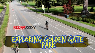 Zero 10x Electric Scooter Ride to Golden Gate Park | GoPro Hero 7 RAW FPV + DJI Spark Drone Footage