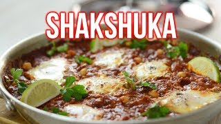 Middle Eastern Shakshuka Eggs With Chickpeas