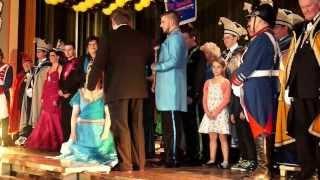 preview picture of video 'Würmesia Prinzenpaar 2014 - Inthronisation Dominik I und Fra'