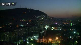 Syria's surface-to-air missiles counter US-led strikes - Video Youtube