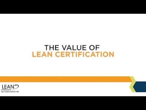 The Value of Lean Certification - YouTube