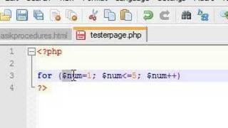 PHP Tutorial - 9 - For Loop