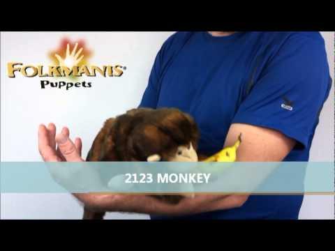 plyšová Opička na ruku