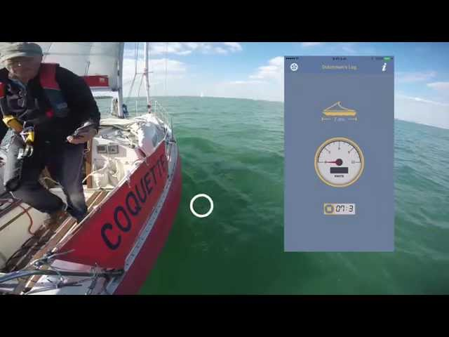 How to use an app to measure boat speed through the water