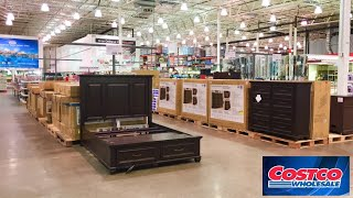 COSTCO FURNITURE KITCHEN DINING ROOM TABLES BEDS SOFAS SHOP WITH ME SHOPPING STORE WALK THROUGH