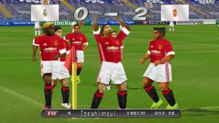 WINNING ELEVEN 2017 (PS1) Real Madrid vs Manchester United (Atualizado) HD
