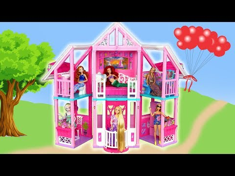 Download New Barbie Malibu House Unboxing Assembly Rumah Boneka Barbi Mp4 HD Video and MP3