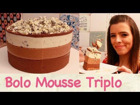 Bolo Mousse Triplo