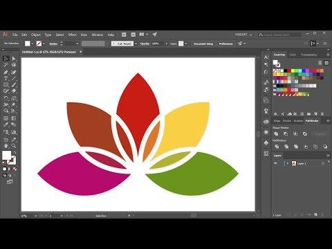 Download How To Create A Flower Logo In Adobe Illustrator | Dangdut