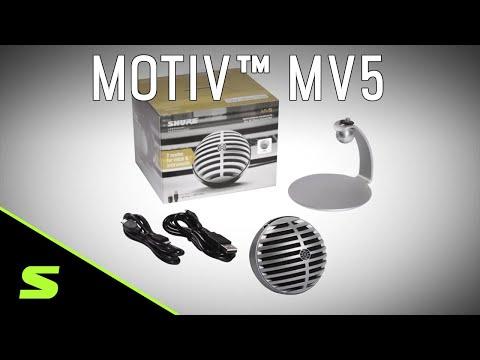 Shure MOTIV MV5 Digital Condenser Microphone Product Video