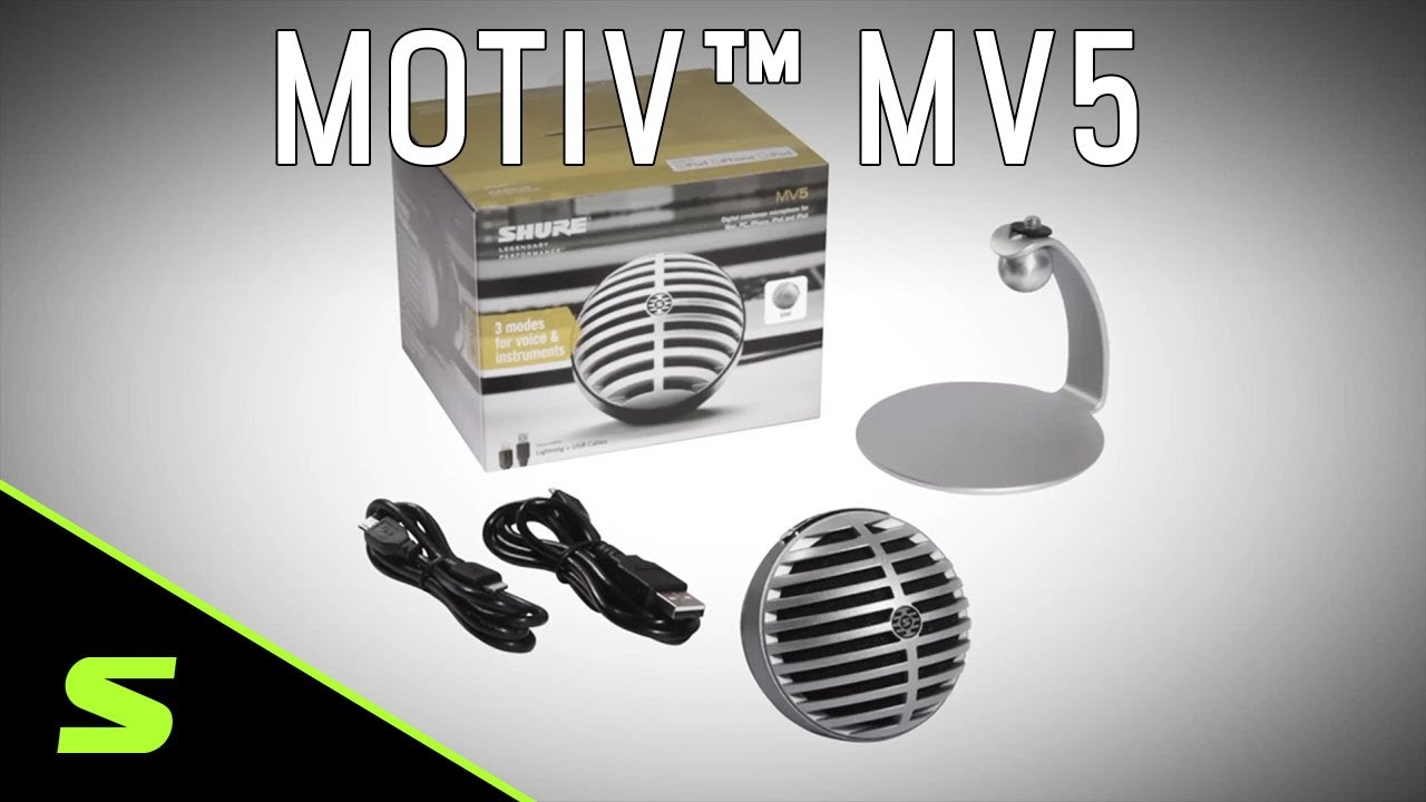Shure MOTIV MV5 Digital Condenser Microphone Product Video