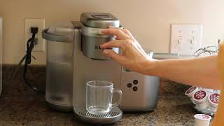 Keurig K Cafe C   How To Make Vanilla Latte