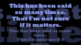Fall Out Boy - Get Busy Living Or Get Busy Dying (Lyrics)