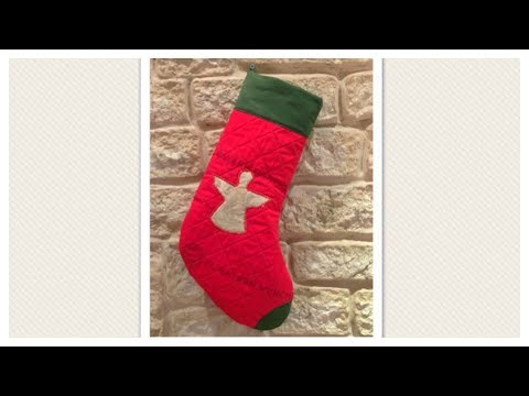 Nikolausstiefel / Weihnachtsstrumpf / Christmas Stocking ...