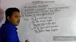 What is an Assertive sentence?