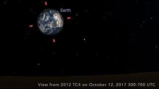 Potentially Hazardous Asteroid 2012 TC4 | Close Approach Visuals