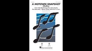 A Motown Snapshot (Medley) (SATB Choir)   Arranged By Kirby Shaw