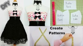 How To Create Your Own Patterns To Make Dresses And Costumes | DIY Sweetheart Dress