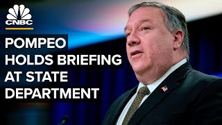 Secretary Mike Pompeo holds news conference at the State Department — 9/21/2020