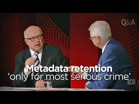 George Brandis: We Won't Use Metadata To Catch Pirates, Honest