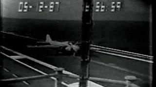Grumman A-6 Intruder Carrier Landing Crash