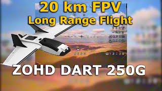 ZOHD Dart 250G 20km 400mW TBS unify pro32 nano fpv Long Range flying wing qczek lrs