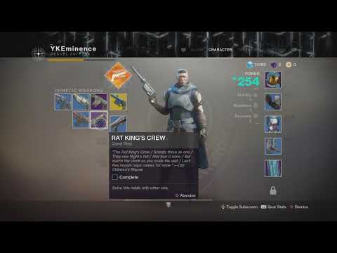 How to get Rat King's Crew Destiny 2 Guide