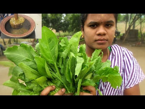 Fresh Palak Spinach Recipe | Traditional way of Cooking in My Village | VILLAGE FOOD