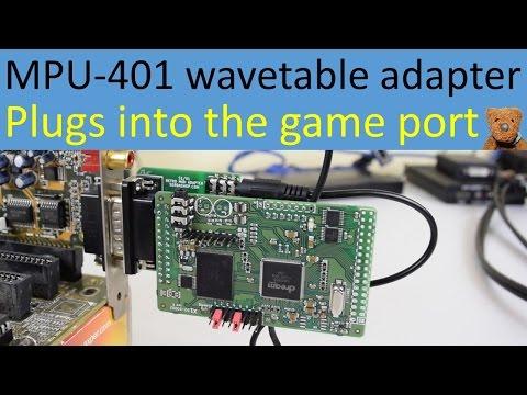 Wavetable adapter for MPU-401 MIDI joystick game port