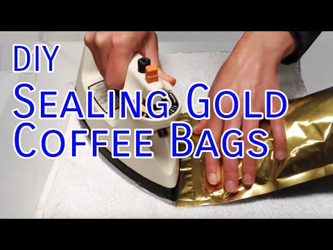 How to Seal Gold Foil Valve Bags With an Iron