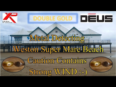 Metal Detecting The Beach Double GOLD Rings Found With  Xp DEUS Metal Detector