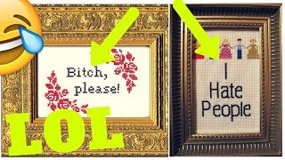 20+ Hilarious Cross Stitches That Are Perfect For 21st Century