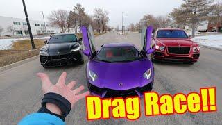 Smug Urus Owner Embarasses LOUD Lamborghini Aventador