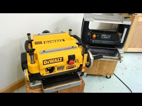 DeWalt DW735 planer vs. a cheap one (review)