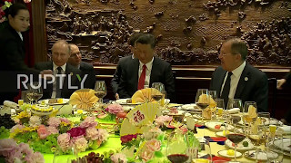 China: Putin, Xi Jinping and Lavrov take lunch together in Beijing